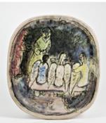 Marc Chagall Abramo e i tre angeli1950