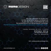 EICMA 8 Novembre 2016 MOMODESIGN e IIT GRAPHENE HELMET PRESS CONFERENCE