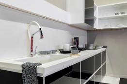 FLORIM stone Color White MAT Color Black LUCIDO