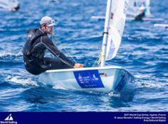 Pavlos Kontides of Cyprus in the Laser
