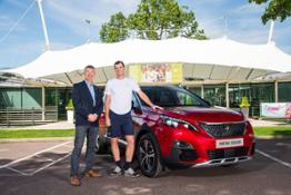 James Parfett and Jamie Murray - 3008 SUV handover