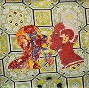 CANNAVACCIUOLO I love you, 2014, olio su tela, 110 x 110 cm (una volta intelato 100 x 100 cm)