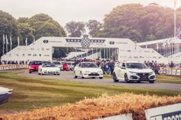 110857 HONDA CELEBRATES 25 YEARS OF TYPE R AND FIREBLADE AT GOODWOOD FESTIVAL OF