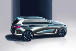 BMW Concept X7 iPerformance. Skizzen.