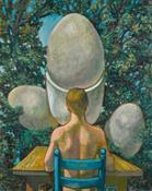 Antoine Malliarakis Mayo, La Vie Augmente Toujours, oil on canvas, 1970 (est. £8,000-12,000)