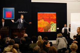 Oliver Barker fields bids at our Contemporary & Italian Art Evening sales (i)