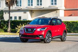 2018 Nissan KICKS Red driving2-source