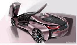 Photo Set - The new BMW i8 Roadster, the new BMW i8 Coupe - Design sketches.
