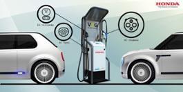 124179 Honda installs new bi directional charging technology at European R D