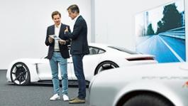 high ivo van hulten head of interior design michael maurer chief designer l r design center weissach 2017 porsche ag