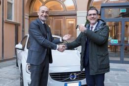 218406 Michele Crisci Presidente Volvo Car Italia Virginio Merola Sindaco di