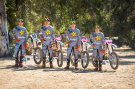 2018 Rockstar Energy Husqvarna Factory Racing Offroad team, Colton Haaker, Dalton Shirey, Josh Strang, and Thad Duvall