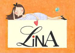 Logo Lina disegnato