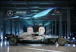 Valtteri Bottas, Toto Wolff and Lewis Hamilton at Silverstone[1
