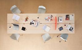 Offset tavolo 120 x 400 frassino naturale maxdesign