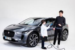 JACK WHITEHALL GETS I-PACE TECH TOUR FROM KIDS