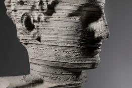 M.Pelletti - Eroded Hermes - Roccia stratificata - cm 67 x 35 x 30 - 2018