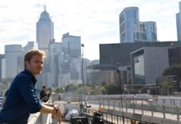 Nico Rosberg standing trackside at the Formula E season-opener in Hong Kong in December last year