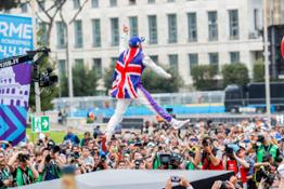 Bird flying high on the podium in Rome for the first-ever E-Prix in the Italian capital
