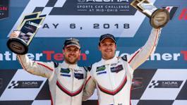 1126947 laurens vanthoor and earl bamber l r imsa weathertech sportscar championship mid ohio 2018 porsche ag 1