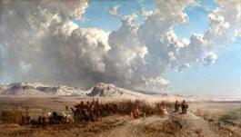 Alberto-Pasini-La-carovana-dello-Shah-di-Persia-1867-olio-su-tela.