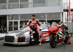 Carlos Checa, AUDI R8 CUP LMS and Panigale V4 S at 24 h Nürburgring (1)
