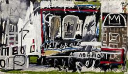 Jean-Michel Basquiat, New York, New York, acrylic, oil stick and spray paint on canvas