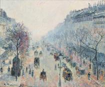 Camille Pissarro, Le Boulevard Montmartre, brume du matin, oil on canvas, painted in 1897 (est. £3,000,000-5,000,000)