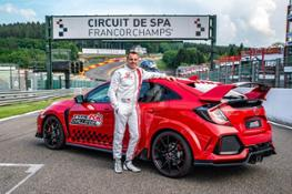 132831 Type R Challenge 2018 hits Eau Rouge Japanese Super GT star Bertrand