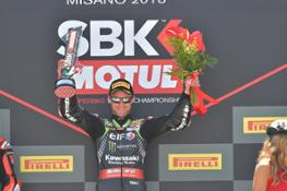 Jonathan Rea on the podium