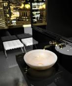 13628it-Glass Design - OCEAN White-Gold