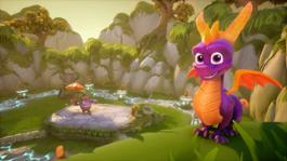 Spyro on Ledge in Idol Springs