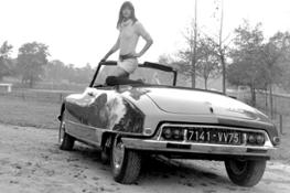 Jane Birkin e la DS21ie cabriolet