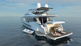 Pearl 95 Aft view