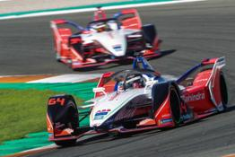 MAHINDRA RACING duo of Jerome D Ambrosio and Pascal Wehrlein on track during pre-season testing in Valencia