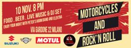 Locandina fbook motorcycles and Rock'n Roll  2018