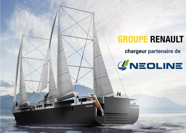 Groupe Renault partners with NEOLINE, designer and operator of cargo sailing ships, to experience a new maritime transport solution and reduce the carbon footprint of the Group's supply chain