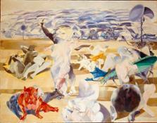04) Ennio Calabria - Quando viene l'estate - 1965 olio su tela, cm. 140x180
