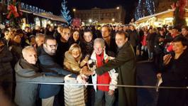 Inaugurazione con Elda Verones - Mercatino Natale Trento