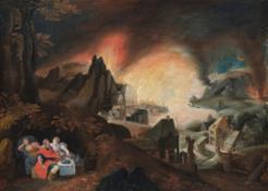 Gillis-Mostaert-La-distruzione-di-sodoma-e-gomorra-olio-su-tavola-cm-40x54-1570-ca..