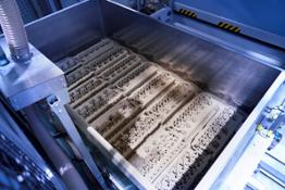 Production in 3D printing process of the sand core for the water jacket of the all-new High-Performance M TwinPower Turbo 6-cylinder petrol engine