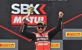 Alvaro Bautista on the podium 2