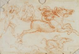 Leonardo da Vinci - Cavalieri al galoppo e fanti