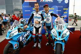 Photo Set - BMW Motorrad Motorsport News_ BMW racers celebrate victories at the Slovakia Ring_