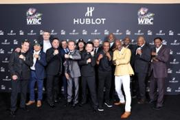 all the champions wearing the Big Bang Unico WBC