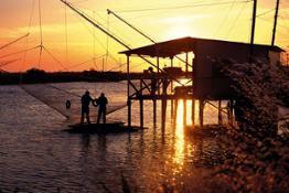 Chioggia pescatori tramonto