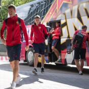captain of CSKA Igor Akinfeev with Piquadro backpack