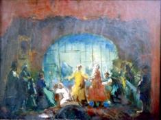 Béla Ivànyi Grunwald, Palcoscenico, 1920-1928, olio su tela mostra LÁSZLÓ MOHOLY-NAGY alla GAM