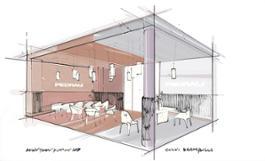 Pedrali Downtown Design 2019 sketch Calvi Brambilla