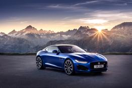 Jag F-TYPE R 21MY Velocity Blue Reveal Switzerland 02.12.19 01